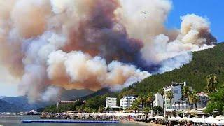 Shocking footage from Turkey! Severe fire in the tourist resort of Marmaris!