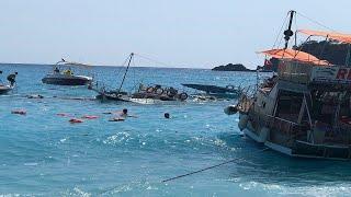 Fethiye'de Tur Teknesi Faciası