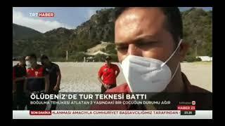 FETHİYE'DE TUR TEKNESİ BATTI || MOTORYAT KAYALIKLARA ÇARPTI