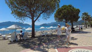 Walking in Marmaris, Turkey, during phase 2 of the reopening, 2021