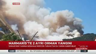 Marmaris İçmeler ve Turunç'ta Orman Yangını 27.06.2021 TURKEY