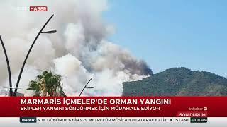 Marmaris İçmeler'de Orman Yangını 27.06.2021 TURKEY