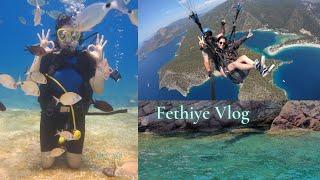 HEM GÖKYÜZÜNDE HEM SUYUN ALTINDA BİR TATİL/ Vlog, Fethiye'de Yamaç Paraşütü ve Dalış Yaptım????????