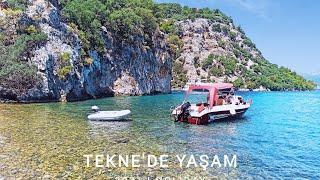 Safter 630 C Cruiser tekne ile Fethiye Göcek deyiz Bölüm 4 #Sarsala Teknede kahvaltı ve Akşam yemeği