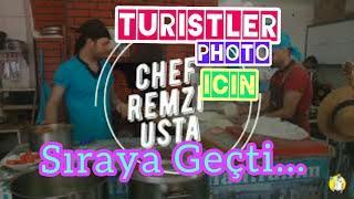 Yabancı Turistler Foto #photo Sırasında #restoran #cinliler #turist #turizm #Antalya #chefremziusta