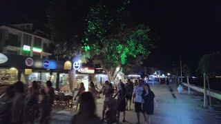 Çalış Beach (Çalış Plajı), Yerguzlar Cd and Şehit Fethi Bey Parkı, Fethiye, Turkey - July 1, 2021