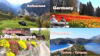 SWITZERLAND - Turkey - WENGEN - LAUTERBRUNNEN  - GRINDELWALD - Suiza - HAGIA SOPHIA - OLUDENIZ