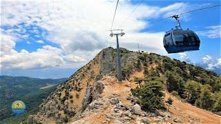 Ölüdeniz Babadağ Teleferik/Cable Car Round Trip In Fethiye, Turkey, June 15, 2021 - 4K