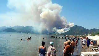 SEVERE Wildfire in Marmaris, Turkey - Jun. 27, 2021 marmaris orman yangını