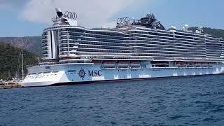 MSC Seaside Cruise in 2021-Marmaris-Muğla-Turkey-Мармарис
